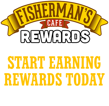 fisherman's cafe rewards program graphic